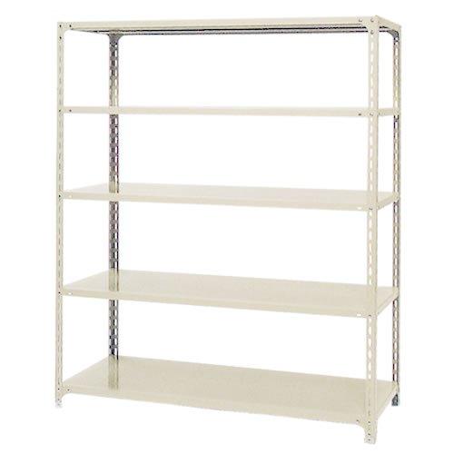 スチール棚 軽量オープン棚 H1800×W600×D300(mm) 棚板5枚