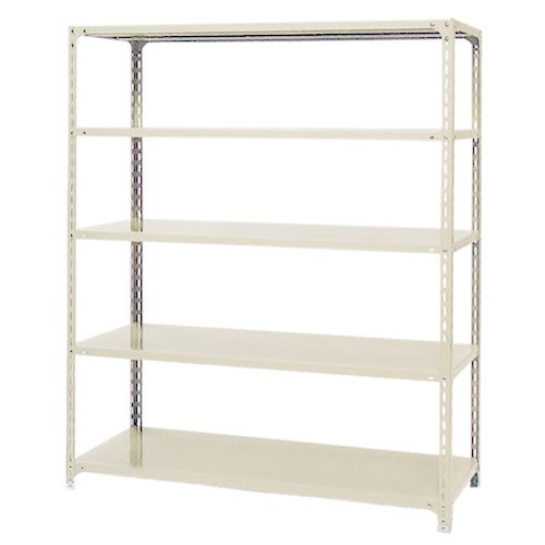 スチール棚 軽量オープン棚 H1900×W600×D300(mm) 棚板5枚