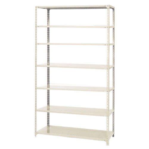 スチール棚 軽量オープン棚 H2400×W600×D450(mm) 棚板7枚