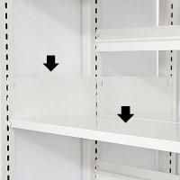 スチール書架(ホワイト色)用 追加棚板 D300mm用 棚受け付き 井上金庫(イノウエ)製の商品画像