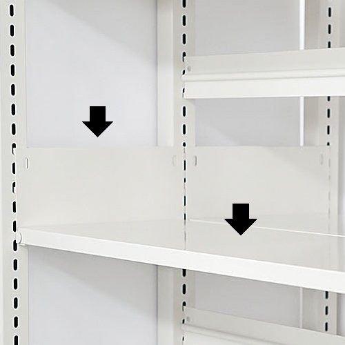 スチール書架(ホワイト色)用 追加棚板 D360mm用 棚受け付き 井上金庫(イノウエ)製