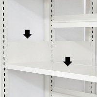 スチール書架(ホワイト色)用 追加棚板 D480mm用 棚受け付き 井上金庫(イノウエ)製の商品画像