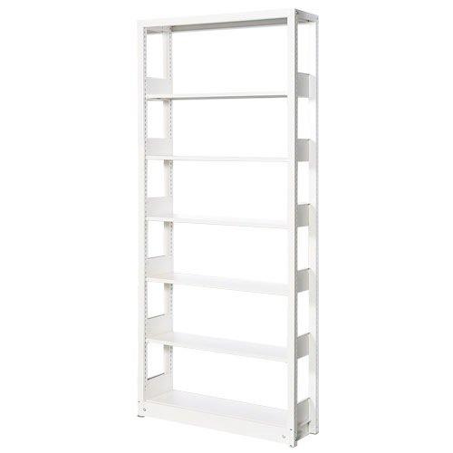 スチール書架(本棚・書棚) 単式 単体棚 ホワイト色 H1920×W940×D480(mm) B4対応
