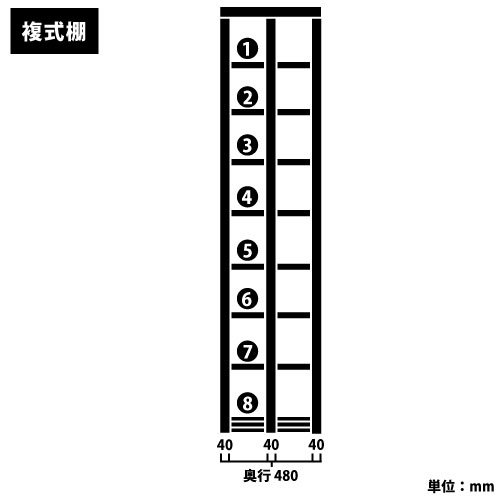 スチール書架(本棚・書棚) 複式 2連結棚 ホワイト色 H2585×W1840×D480(mm) B5対応https://img08.shop-pro.jp/PA01034/592/product/127551527_o2.jpg?cmsp_timestamp=20180126121825のサムネイル