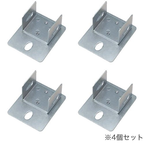 耐震防止金具(床固定金具) アンカーベースプレート 中量スチール棚用 4個セットのメイン画像
