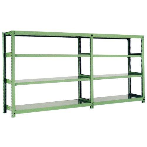 スチール棚 中量500kg連増(2連結棚) H1500×W1800×D750(mm) 棚板8セット ※柱芯寸法のメイン画像
