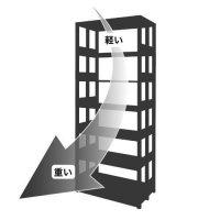 スチール棚は「上段よりも下段に重いもの」を載せるが基本の商品画像