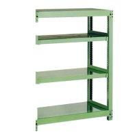 スチール棚 中量500kg追加連結棚 H1500×W1200×D450(mm) 棚板4枚 ※柱芯寸法の商品画像