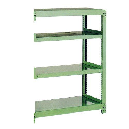 スチール棚 中量500kg追加連結棚 H1500×W1800×D750(mm) 棚板4セット ※柱芯寸法