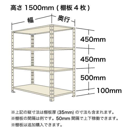 スチール棚 軽量オープン棚 H1500×W875×D300(mm) 棚板4枚https://img08.shop-pro.jp/PA01034/592/product/135952248_o1.jpg?cmsp_timestamp=20181011101400のサムネイル