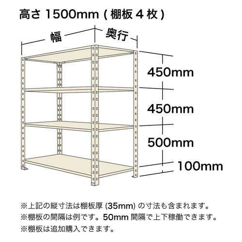 スチール棚 軽量オープン棚 H1500×W1200×D600(mm) 棚板4枚https://img08.shop-pro.jp/PA01034/592/product/136145067_o1.jpg?cmsp_timestamp=20181017094711のサムネイル