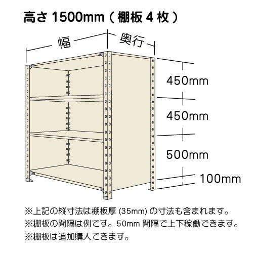 スチール棚 軽量パネル棚 H1500×W1500×D600(mm) 棚板4枚https://img08.shop-pro.jp/PA01034/592/product/137184522_o1.jpg?cmsp_timestamp=20181121101520のサムネイル