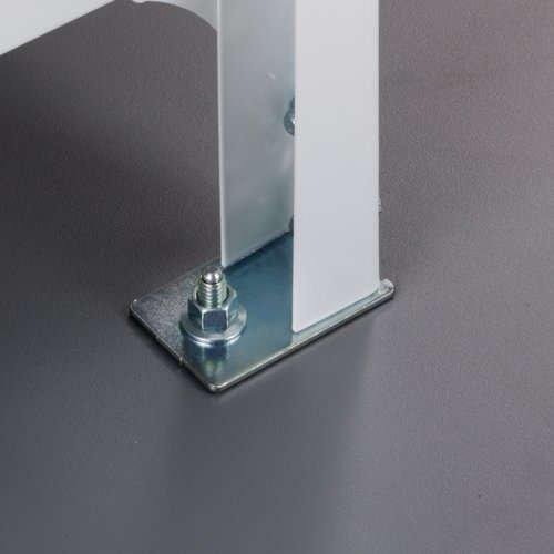 スチール棚の床固定による転倒防止対策のメイン画像
