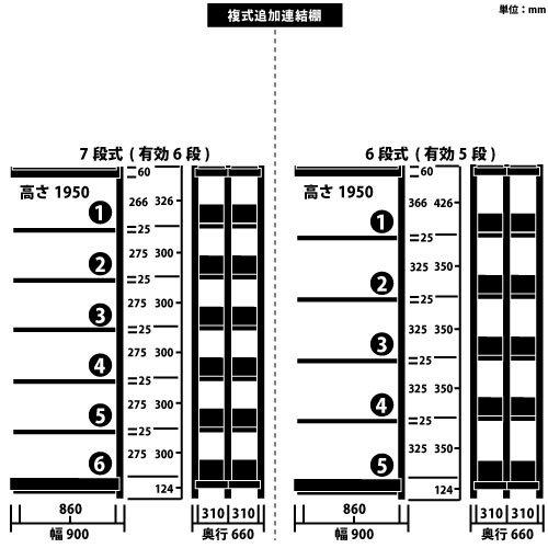 ホワイトラック スチール書架 KCJA 追加連結棚 複式 H1950×W900×D660(mm)https://img08.shop-pro.jp/PA01034/592/product/147009564_o1.jpg?cmsp_timestamp=20191122092836のサムネイル