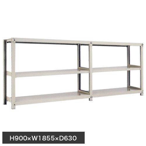 スチール棚 中量300kg連増(2連結棚) H900×W1800×D600(mm) 棚板6枚 ※柱芯寸法のメイン画像