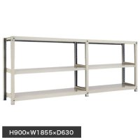 スチール棚 中量300kg連増(2連結棚) H900×W1800×D600(mm) 棚板6枚 ※柱芯寸法の画像