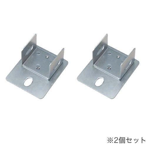 耐震防止金具(床固定金具) アンカーベースプレート 中量スチール棚(300kg/段・500kg段)専用 2個セット(追加連結棚1連分)のメイン画像