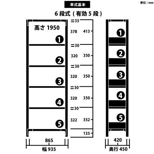 スチール書架 RKU 基本型 H1950×W935×D450(mm) 天地6段 チョコレートブラウンカラーhttps://img08.shop-pro.jp/PA01034/592/product/163376735_o1.jpg?cmsp_timestamp=20210915111354のサムネイル