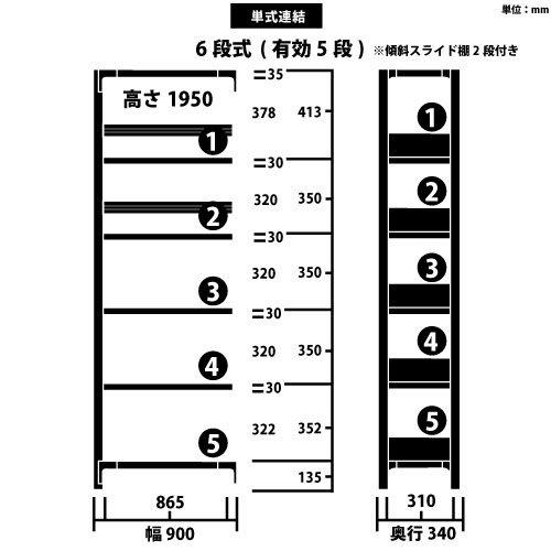スチール書架 RKU 連結型 H1950×W900×D340(mm) 天地6段 傾斜スライド棚板2段付き チョコレートブラウンカラーhttps://img08.shop-pro.jp/PA01034/592/product/164012277_o1.jpg?cmsp_timestamp=20211013135401のサムネイル