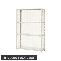 スチール棚 軽量金網棚 H1200×W1500×D300(mm) 棚板4枚の商品画像