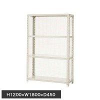 スチール棚 軽量金網棚 H1200×W1800×D450(mm) 棚板4枚の商品画像