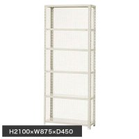 スチール棚 軽量金網棚 H2100×W875×D450(mm) 棚板6枚の商品画像