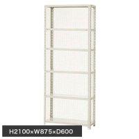 スチール棚 軽量金網棚 H2100×W875×D600(mm) 棚板6枚の商品画像