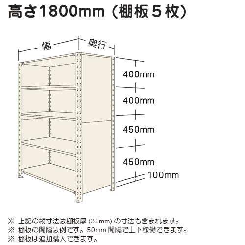 スチール棚 軽量パネル棚 H1800×W1800×D450(mm) 棚板5枚https://img08.shop-pro.jp/PA01034/592/product/16423602_o1.jpg?20140425202941のサムネイル