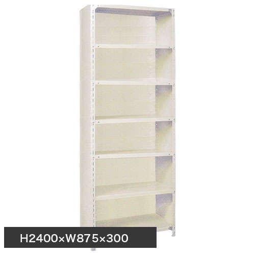 スチール棚 軽量パネル棚 H2400×W875×D300(mm) 棚板7枚のメイン画像