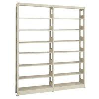 スチール書架(本棚・書棚) 単式 連増(2連結棚) H2585×W1840×D300(mm) A4縦書類対応サイズの商品画像