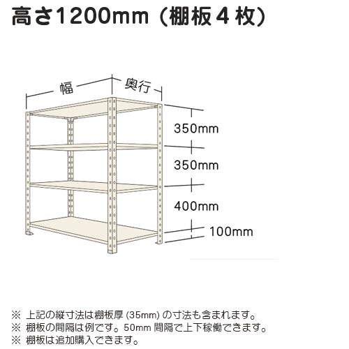 スチール棚 軽量オープン棚 H1200×W875×D450(mm) 棚板4枚https://img08.shop-pro.jp/PA01034/592/product/4983138_o1.jpg?20140421160206のサムネイル