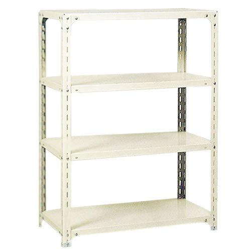 スチール棚 軽量オープン棚 H1200×W875×D600(mm) 棚板4枚