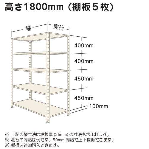 スチール棚 軽量オープン棚 H1800×W875×D600(mm) 棚板5枚https://img08.shop-pro.jp/PA01034/592/product/5017525_o1.jpg?20140421165719のサムネイル
