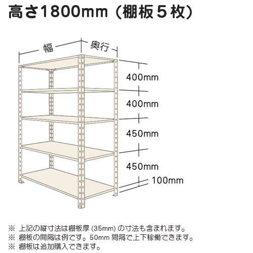 スチール棚 軽量オープン棚 H1800×W1200×D450(mm) 棚板5枚https://img08.shop-pro.jp/PA01034/592/product/5017527_o1.jpg?20140421165723のサムネイル