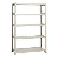 スチール棚 中軽量200kg基本(単体棚) H1800×W900×D300(mm) 棚板5枚の商品画像