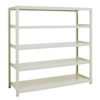 スチール棚 中量300kg基本(単体棚) H1800×W1500×D450(mm) 棚板5枚 ※柱芯寸法の商品画像