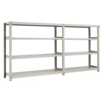 スチール棚 中量300kg連増(2連結棚) H1200×W3000×D600(mm) 棚板8枚 ※柱芯寸法の商品画像