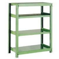 スチール棚 中量500kg基本(単体棚) H1200×W1800×D450(mm) 棚板4枚 ※柱芯寸法の商品画像