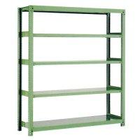 スチール棚 中量500kg基本(単体棚) H1800×W1200×D600(mm) 棚板5枚 ※柱芯寸法の商品画像