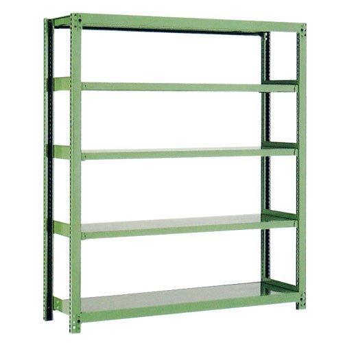 スチール棚 中量500kg基本(単体棚) H1800×W1800×D600(mm) 棚板5枚 ※柱芯寸法のメイン画像