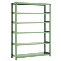 スチール棚 中量500kg基本(単体棚) H2100×W1500×D450(mm) 棚板6枚 ※柱芯寸法の商品画像