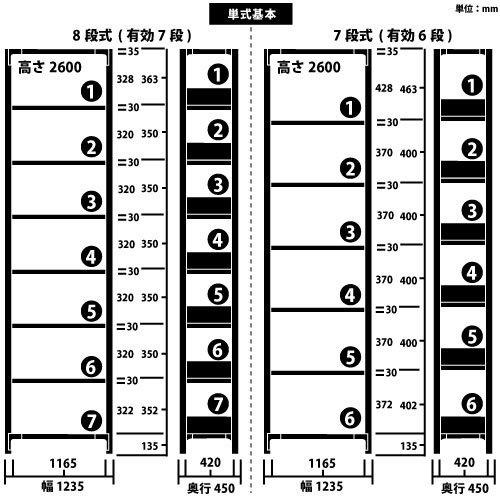 ホワイトラック 軽量書棚(本棚) KU 単式 H2600×W1235×D450(mm)https://img08.shop-pro.jp/PA01034/592/product/70828438_o1.jpg?cmsp_timestamp=20161016060500のサムネイル