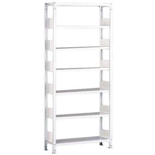 ホワイトラック 軽量書棚(本棚) KU 単式 H2600×W1835×D450(mm)