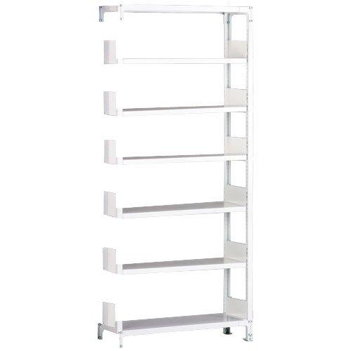 ホワイトラック 軽量書棚(本棚) KU 追加連結棚 単式 H2600×W1200×D340(mm)
