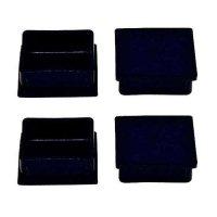 中量スチール棚共通部材 ベースキャップ 4個セット (1台分)の商品画像