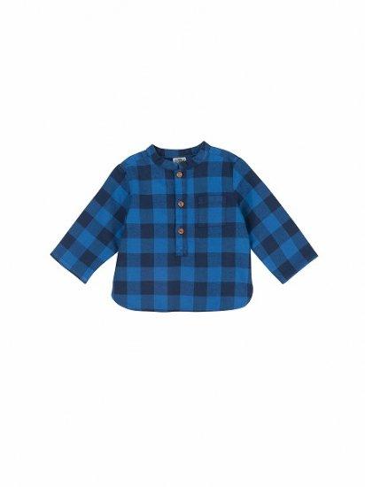 <img class='new_mark_img1' src='https://img.shop-pro.jp/img/new/icons6.gif' style='border:none;display:inline;margin:0px;padding:0px;width:auto;' />BONTON BABY ヘンリーネックシャツ チェック ブルー