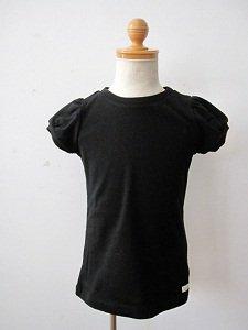 letemps パフスリーブTシャツ ブラック(2,4,6A)