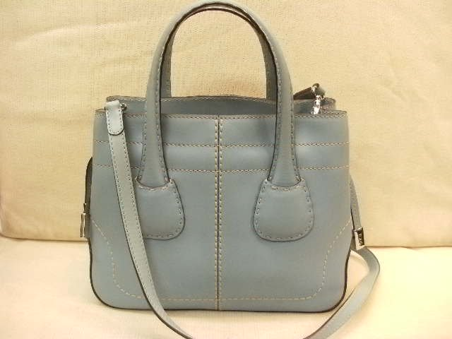 TOD'S トッズ 2WAY Dバッグ ブルー