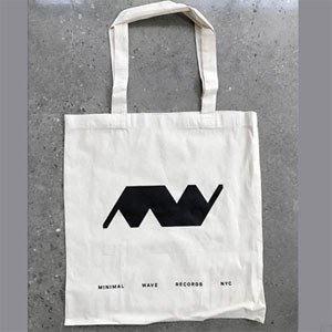 Minimal Wave Natural Canvas Tote V2