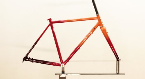 All City ZIG ZAG Frame Set / Orange-Red Fade